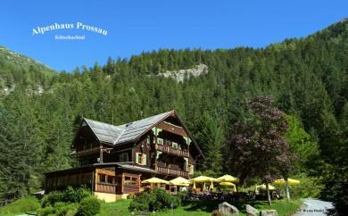 Restaurant Alpenhaus Prossau im Kötschachtal in Bad Gastein, Gasteinertal im Sommer